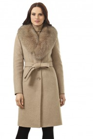 Элегантное зимнее женское пальто Авалон, полуприталенный силуэт 2328 ПЗ W24
