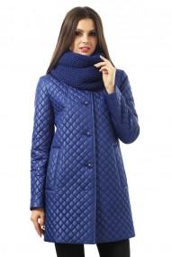 Утепленное пальто из стеганой плащевой ткани Карманы с широкими листочками, на потайных кнопках Авалон 2255 СУ120 78AB