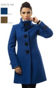 Пальто женское утепленное Авалон,Подходит для Дам, модель в синем и горчичном цвете 1575ПУ 154
