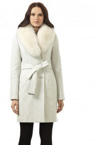 Пальто зимнее женское Авалон, съёмный воротник, из натурального песца 1982ПЗ WT8