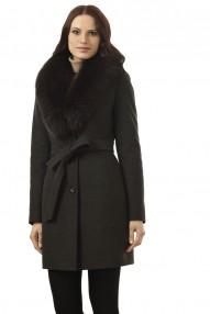 Пальто зимнее женское Авалон цвета меланж, карманы на потайных молниях 2325 ПЗ WT8