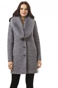 Пальто женское зимнее Авалон,  свободный силуэт,(св/серый меланж) 2329 ПЗ K4