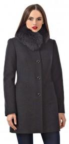 Пальто женское зимние Авалон,с воротником в сине-черном цвете 2116ПЗ SHP18