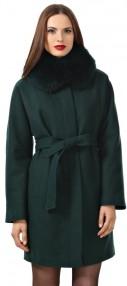 Пальто женское зимние Avalon c с мехом,(хит в цвете темный меланж) 2118ПЗ WT7