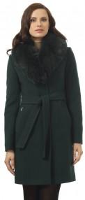 Пальто женское зимнее Авалон ,темно-хвойный цвет 2115 ПЗ WT8