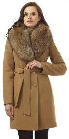 Женское пальто зимнее Avalon, с меховым воротником, шаль из натурального енота 2201 ПЗ WT8